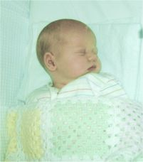 Romilly Trigwell at 3 weeks